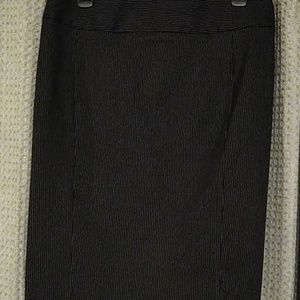 Black and White pinstripe skirt with back zip.
